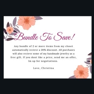 Bundle to save! Free gift with any purchase.